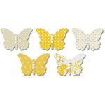 Jenni Bowlin Studio - Vellum Embellished Butterflies with Jewels - Yellow, CLEARANCE