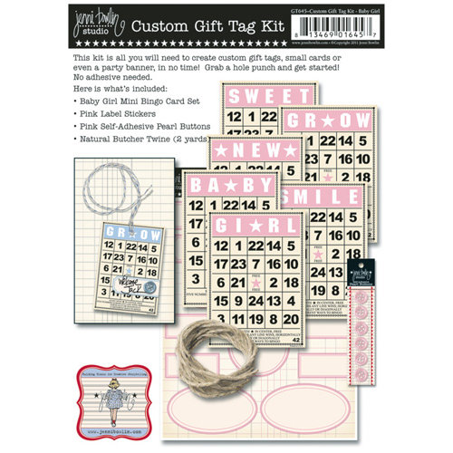 Jenni Bowlin Studio - Custom Gift Tag Kit - Baby Girl