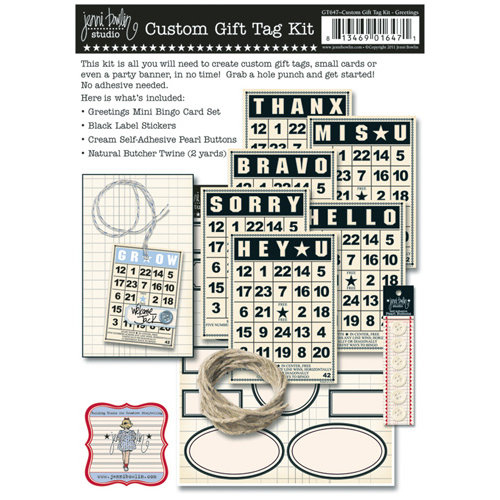 Jenni Bowlin Studio - Custom Gift Tag Kit - Greetings