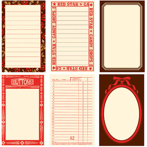 Jenni Bowlin Studio - Town Square Collection - Journaling Cards, CLEARANCE