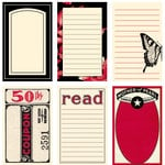 Jenni Bowlin Studio - Red and Black II Collection - Journaling Cards, CLEARANCE