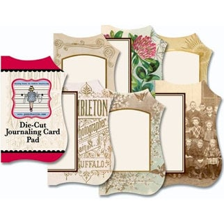 Jenni Bowlin Studio - Mini Die Cut Journaling Card Pad - Vintage 1