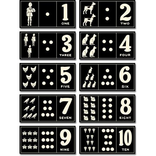 Jenni Bowlin Studio - Number Card Set - Vintage