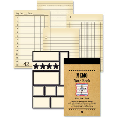 Jenni Bowlin Studio - Memo Book - Black , CLEARANCE