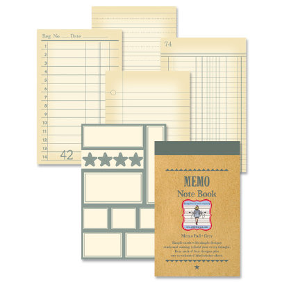 Jenni Bowlin Studio - Memo Book - Grey, CLEARANCE