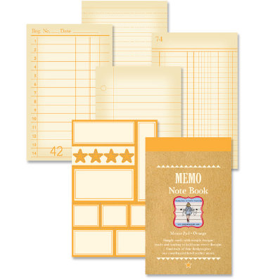 Jenni Bowlin Studio - Memo Book - Orange, CLEARANCE