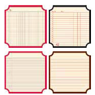 Jenni Bowlin Studio - Front Porch Collection - Mini 4 x 4 Die Cut Classic Label Paper Set