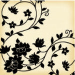 Jenni Bowlin Studio - Vintage Collection - 12 x 12 Patterned Paper - Black Vine