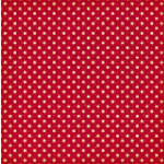 Jenni Bowlin Studio - Vintage Collection - 12 x 12 Patterned Paper - Red Tiny Dot