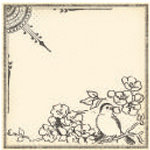 Jenni Bowlin Studio - Vintage Collection - 12 x 12 Patterned Paper - Black Bird