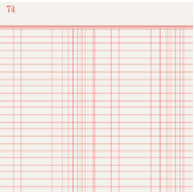 Jenni Bowlin Studio - Trendy Collection - 12 x 12 Patterned Paper - Red Lined Ledger