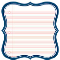 Jenni Bowlin Studio - 12 x 12 Die Cut Paper - Navy Lined Label