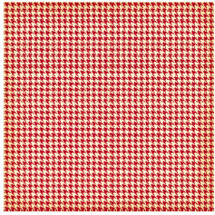 Jenni Bowlin Studio - Red and Black Collection - 12 x 12 Patterned Paper - Red Houndstooth