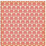 Jenni Bowlin Studio - Red and Black Collection - 12 x 12 Patterned Paper - Red Cabbage Flower