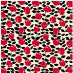 Jenni Bowlin Studio - Red and Black Collection - 12 x 12 Patterned Paper - Grandmas Apron