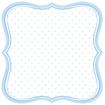 Jenni Bowlin Studio - Baby of Mine Collection - 12 x 12 Die Cut Paper - Baby Boy Label
