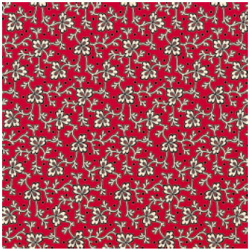 Jenni Bowlin Studio - Red and Black II Collection - 12 x 12 Paper - Clover Vine