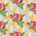 Jenni Bowlin Studio - Homespun Collection - 12 x 12 Paper - Quilted Floral