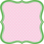 Jenni Bowlin Studio - Homespun Collection - 12 x 12 Die Cut Paper - Label