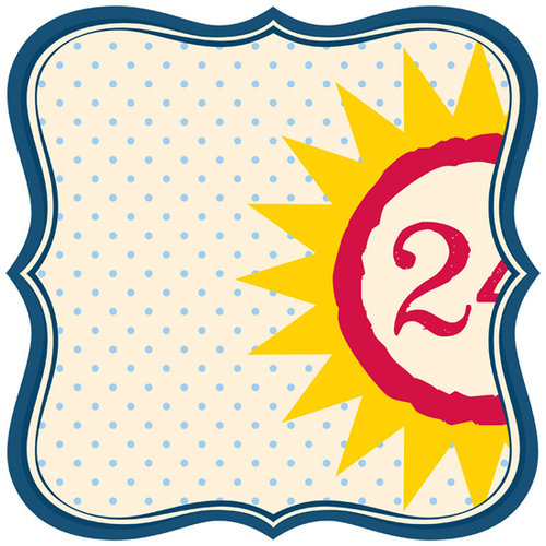 Jenni Bowlin Studio - Play Date Collection - 12 x 12 Die Cut Paper - Label