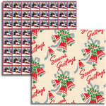 Jenni Bowlin - Christmas 2011 Collection - 12 x 12 Double Sided Paper - Wrapping Paper