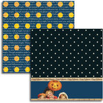 Jenni Bowlin - Halloween 2011 Collection - 12 x 12 Double Sided Paper - Starry Night