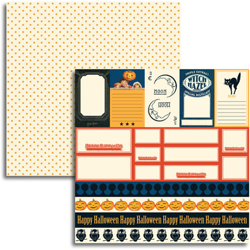 Jenni Bowlin - Halloween 2011 Collection - 12 x 12 Double Sided Paper - Accessory Sheet