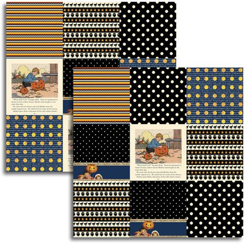 Jenni Bowlin - Halloween 2011 Collection - 12 x 12 Double Sided Paper - Mini Pattern Sheet