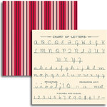 Jenni Bowlin Studio - Red and Black IV Collection - 12 x 12 Double Sided Paper - Letter Chart