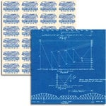 Jenni Bowlin Studio - Wren Collection - 12 x 12 Double Sided Paper - Blueprint