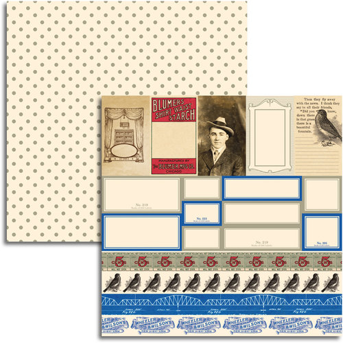Jenni Bowlin Studio - Wren Collection - 12 x 12 Double Sided Paper - Accessory Sheet