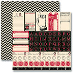 Jenni Bowlin Studio - Red and Black Collection 2012 - 12 x 12 Double Sided Paper - Accessory Sheet
