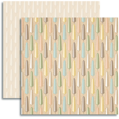 Jenni Bowlin Studio - Modern Mercantile Collection - 12 x 12 Double Sided Paper - Melange