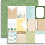 Jenni Bowlin Studio - Modern Mercantile Collection - 12 x 12 Double Sided Paper - Hodge Podge