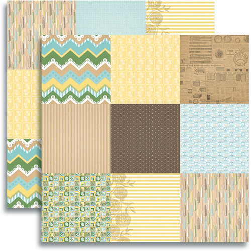 Jenni Bowlin Studio - Modern Mercantile Collection - 12 x 12 Double Sided Paper - Etcetera