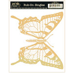 Jenni Bowlin Studio - Rub Ons Single - Butterfly - Metallic Gold, CLEARANCE
