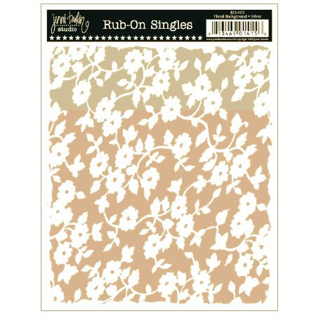 Jenni Bowlin Studio - Rub Ons Single - Floral Background - Metallic Gold