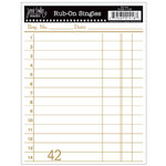Jenni Bowlin Studio - Rub Ons Single - Receipt - Metallic Gold