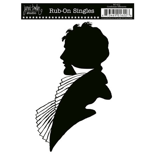 Jenni Bowlin Studio - Rub On Single - Gentleman Silhouette