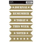 Jenni Bowlin Studio - Rub Ons - Stencil Banners - Gold