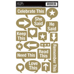 Jenni Bowlin Studio - Rub Ons - Speech Bubbles - Gold