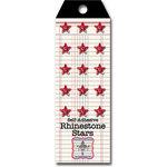 Jenni Bowlin Studio - Self Adhesive Rhinestones - Stars - Red