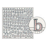 Jenni Bowlin Studio - Large Alphabet Stickers - Red Bookprint, CLEARANCE