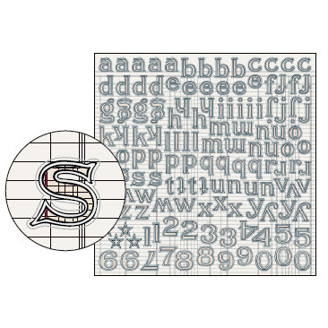Jenni Bowlin Studio - Large Alphabet Stickers - Black Ledger, CLEARANCE