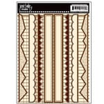 Jenni Bowlin Studio - Cardstock Stickers - Brown Border