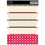 Jenni Bowlin Studio - Cardstock Stickers - Red Banner
