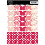Jenni Bowlin Studio - Cardstock Stickers - Butterfly Banner - Red