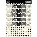 Jenni Bowlin Studio - Cardstock Stickers - Butterfly Banner - Black