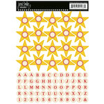 Jenni Bowlin Studio - Cardstock Stickers - Star Banner - Yellow