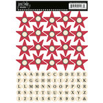 Jenni Bowlin Studio - Cardstock Stickers - Star Banner - Red